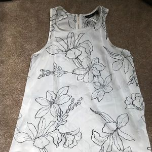 Floral Dressy Tank with Gold Zipper